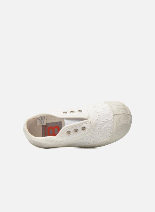 Sneakers Bensimon Tennis Elly Broderie Anglaise E Bianco immagine sinistra