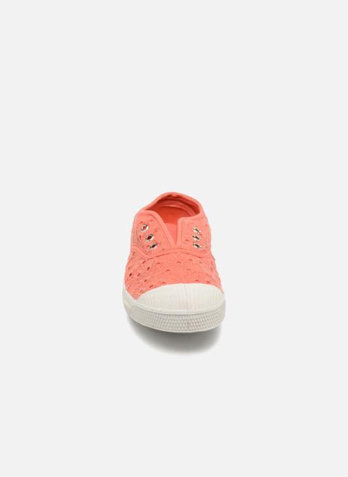 Baskets Bensimon Tennis Elly Broderie Anglaise E Orange vue portées chaussures