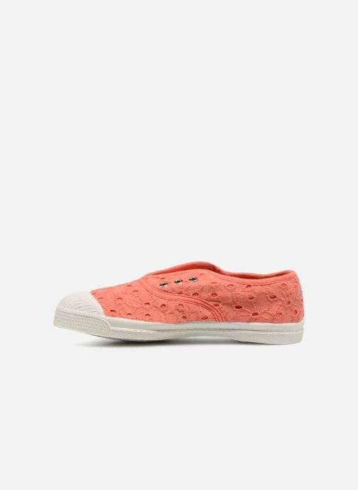 Baskets Bensimon Tennis Elly Broderie Anglaise E Orange vue face