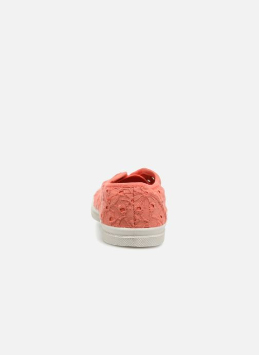 Baskets Bensimon Tennis Elly Broderie Anglaise E Orange vue droite