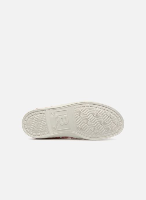Baskets Bensimon Tennis Elly Broderie Anglaise E Orange vue haut