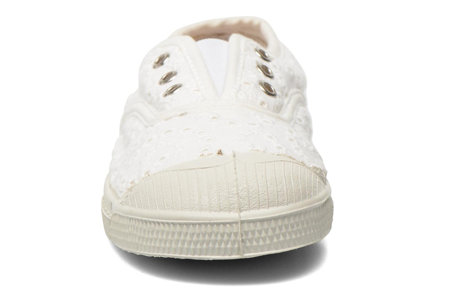 Trainers Bensimon Tennis Elly Broderie Anglaise E White model view