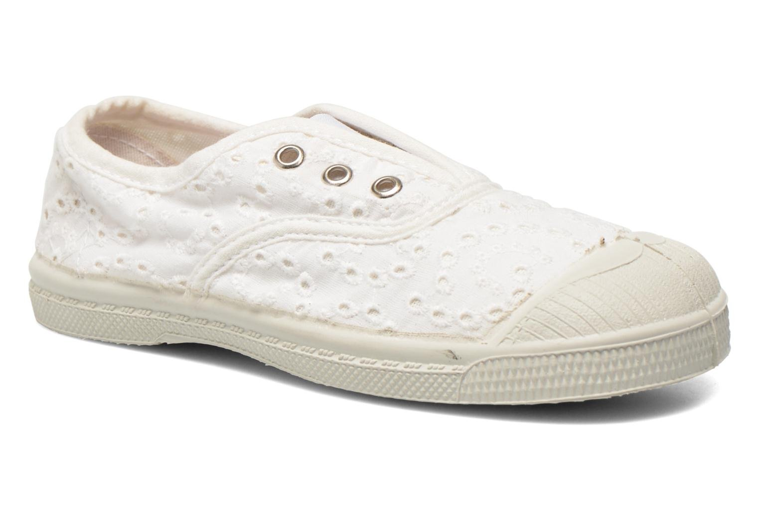 Trainers Bensimon Tennis Elly Broderie Anglaise E White detailed view/ Pair view