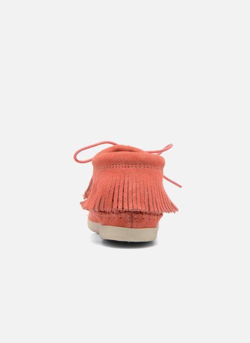 Bottines et boots Minnetonka Venice Perf Orange vue droite