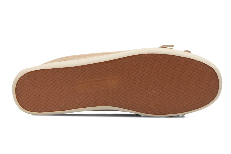 Loafers Minnetonka Newport Moc Beige bild från ovan
