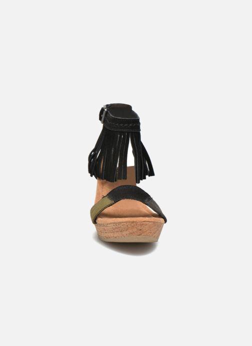 Black Et Sandales Patch Minnetonka Nu Suede pieds Poppy uPiTkOXZ