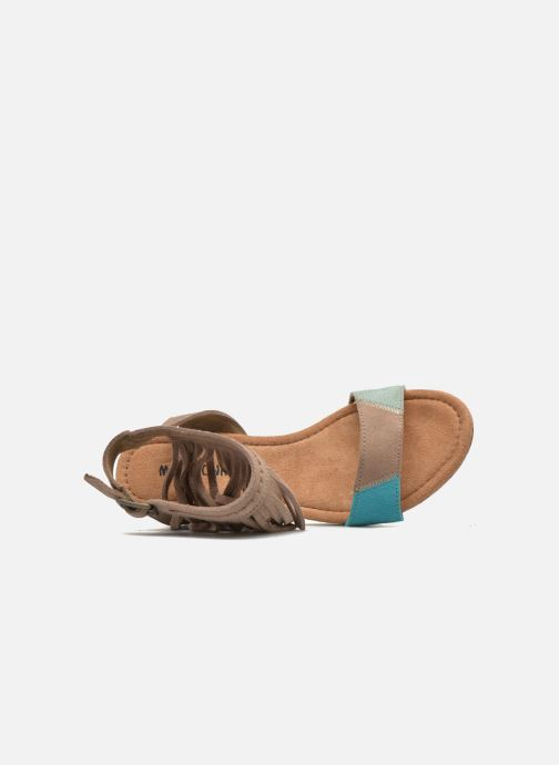 Minnetonka pieds beige Et Poppy Sandales Nu Chez rTXUrqOW