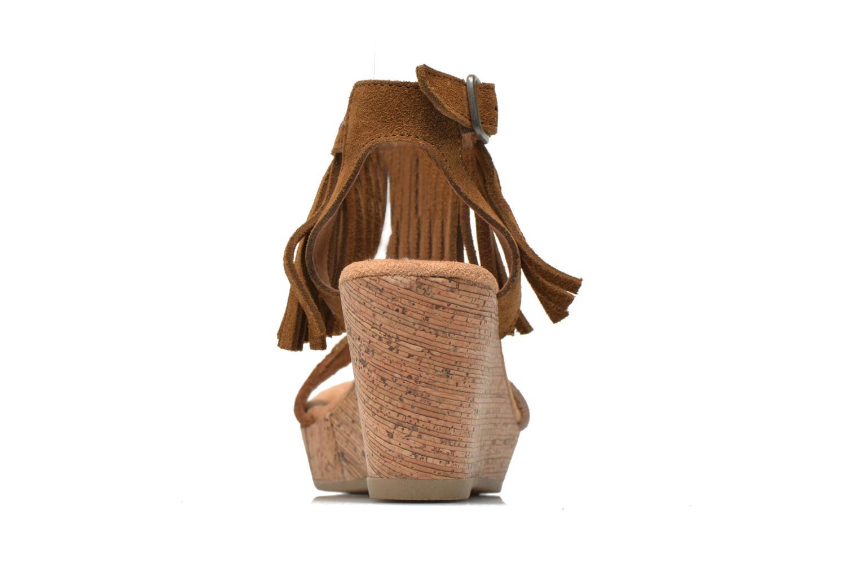 Sandales et nu-pieds Minnetonka Poppy Marron vue droite