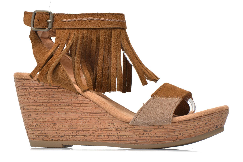Sandales et nu-pieds Minnetonka Poppy Marron vue derrière