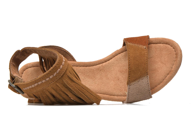 Sandales et nu-pieds Minnetonka Poppy Marron vue gauche