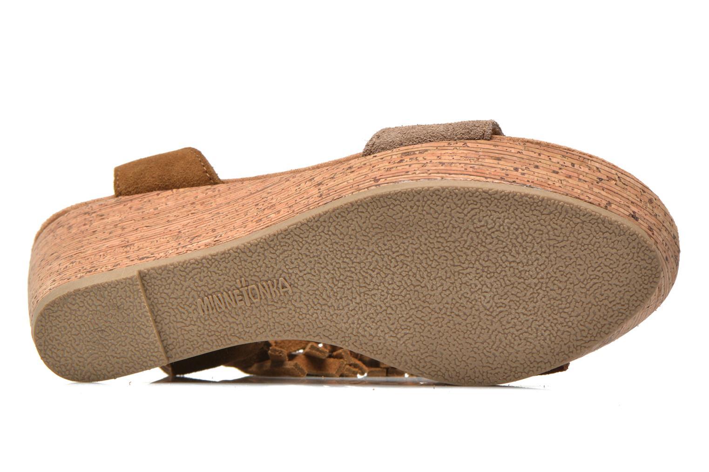 Sandales et nu-pieds Minnetonka Poppy Marron vue haut