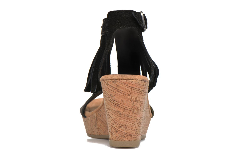 Sandalen Minnetonka Poppy schwarz ansicht von rechts
