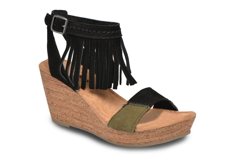 Sandalen Minnetonka Poppy schwarz detaillierte ansicht/modell