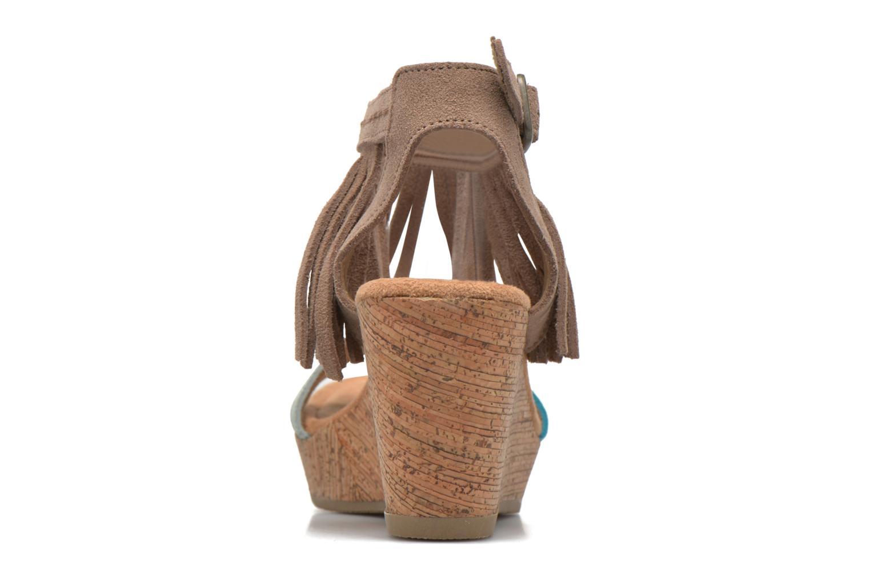 Sandales et nu-pieds Minnetonka Poppy Beige vue droite