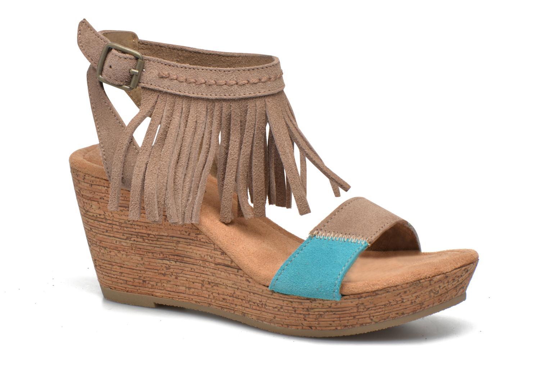 Sandales et nu-pieds Minnetonka Poppy Beige vue détail/paire