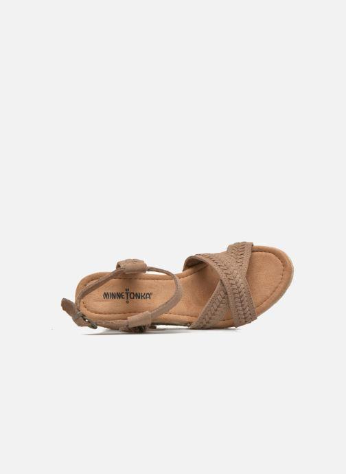 Et beige Naomi Chez Nu Sandales pieds Minnetonka 1wHnq8Sg
