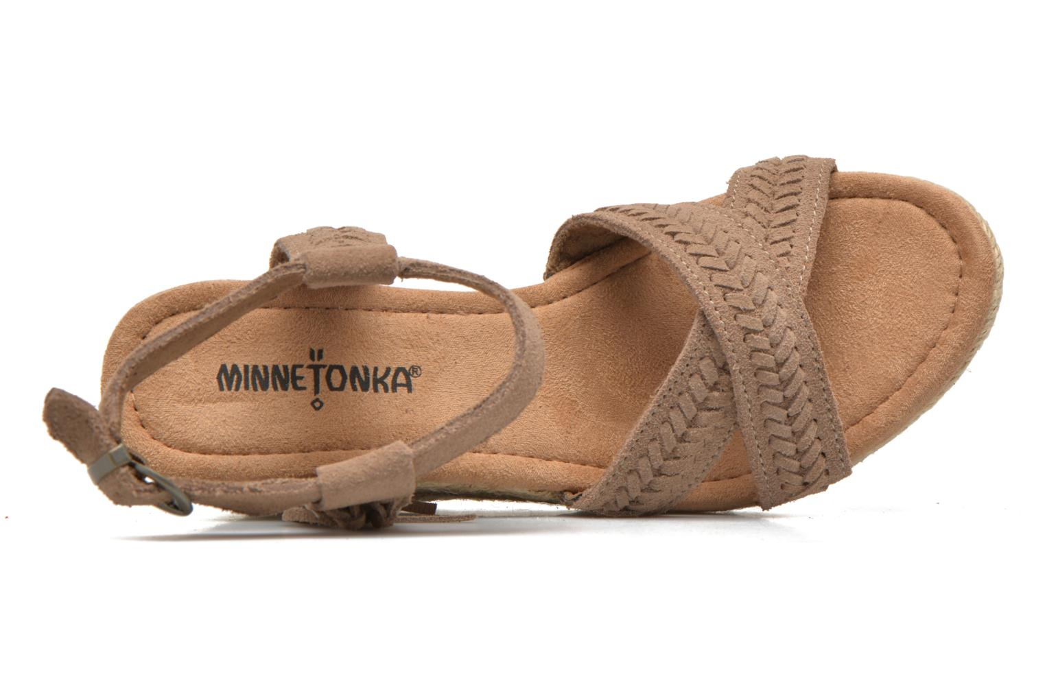 Sandals Minnetonka Naomi Beige view from the left