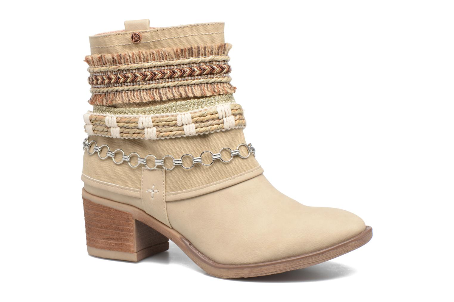 Ankle boots Bullboxer Morano Beige detailed view/ Pair view