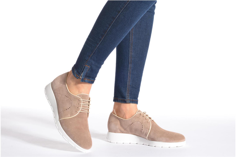 Chaussures à lacets Muratti Roche Beige vue bas / vue portée sac