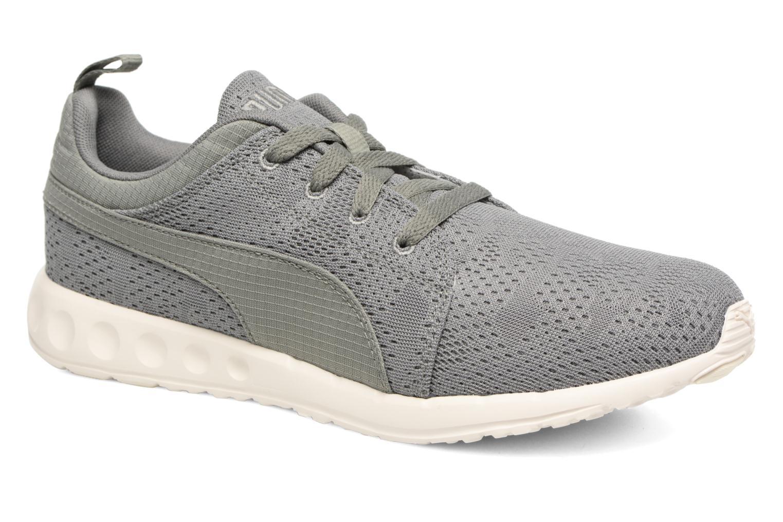 Chaussures de sport Puma Carson Camo Mesh Vert vue détail/paire
