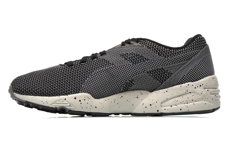 Sneaker Puma R698 Knit Mesh V2.1 Trinomic schwarz ansicht von vorne