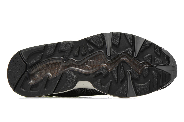 Sneaker Puma R698 Knit Mesh V2.1 Trinomic schwarz ansicht von oben