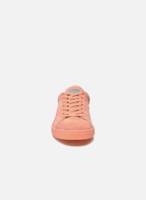Trainers Puma WNS Suede Mono Ref Pink model view