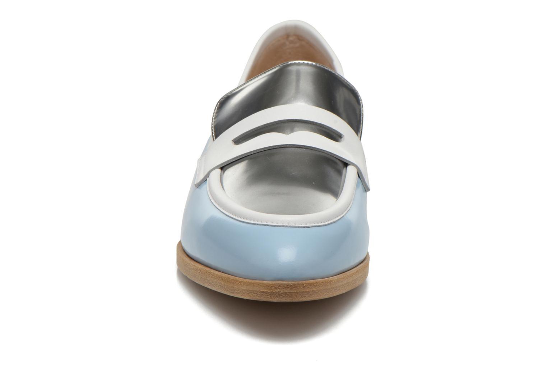 Mocassins Rebecca Balducci Claira Bleu vue portées chaussures
