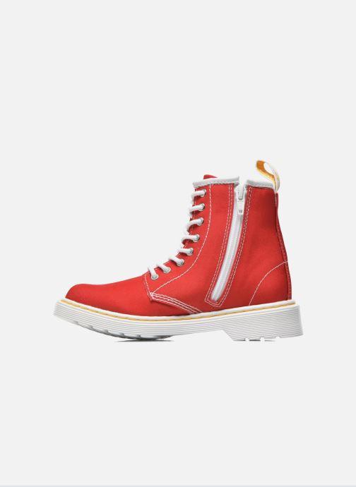 Boots en enkellaarsjes Dr. Martens Juniors Delaney Lace Boot Canvas Rood voorkant