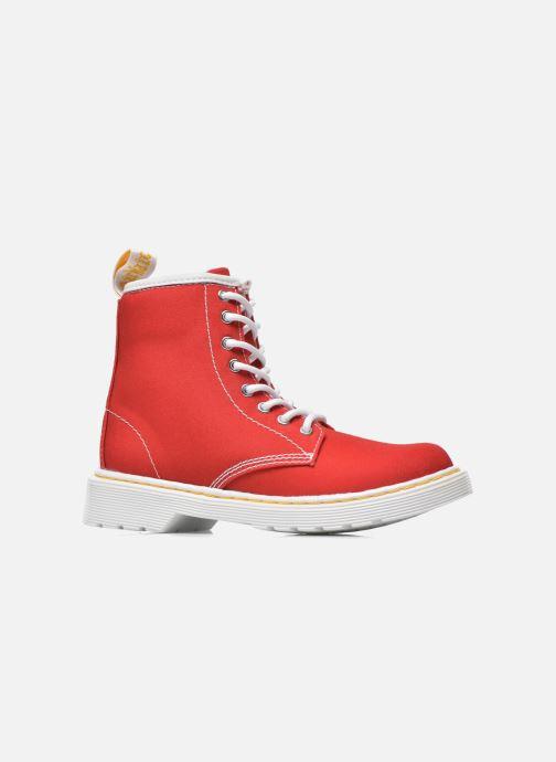 Boots en enkellaarsjes Dr. Martens Juniors Delaney Lace Boot Canvas Rood achterkant