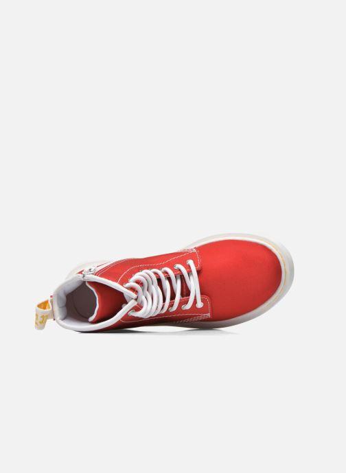 Bottines et boots Dr. Martens Juniors Delaney Lace Boot Canvas Rouge vue gauche