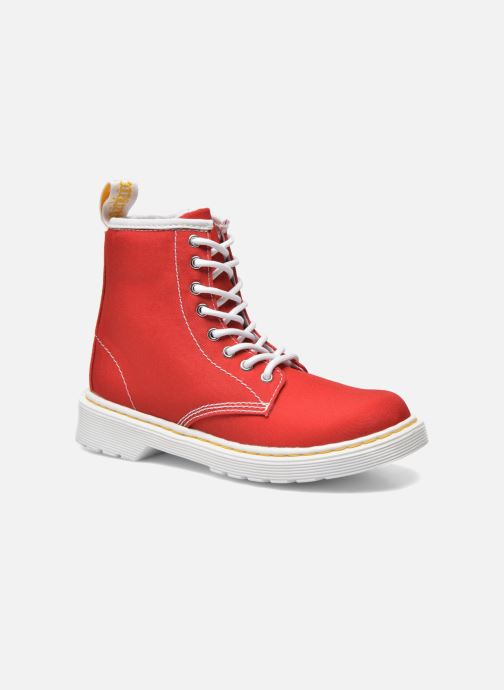 Boots en enkellaarsjes DR. Martens Juniors Delaney Lace Boot Canvas Rood detail