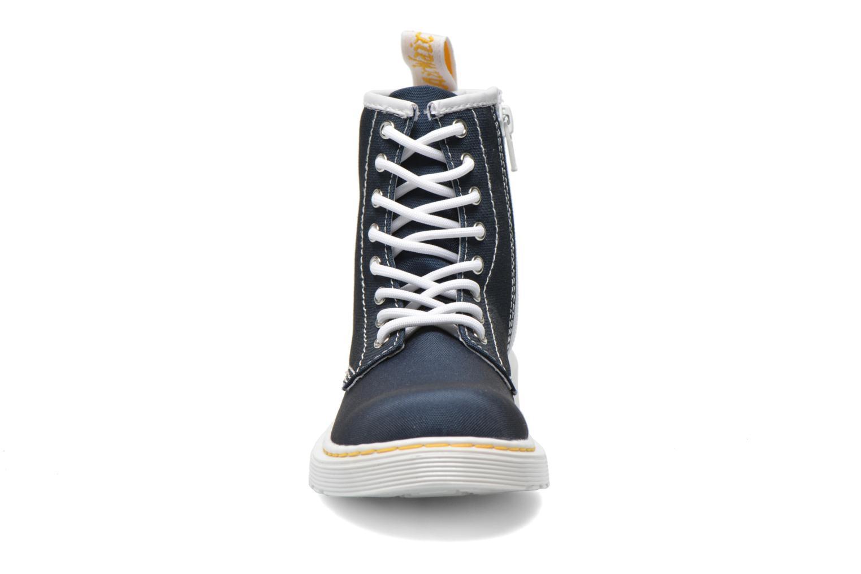 Bottines et boots Dr. Martens Juniors Delaney Lace Boot Canvas Bleu vue portées chaussures