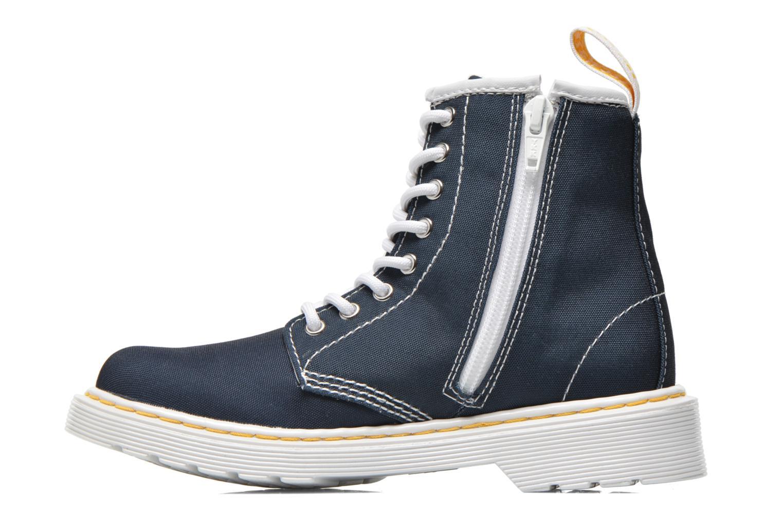 Bottines et boots Dr. Martens Juniors Delaney Lace Boot Canvas Bleu vue face