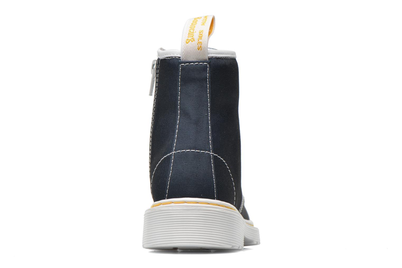 Bottines et boots Dr. Martens Juniors Delaney Lace Boot Canvas Bleu vue droite
