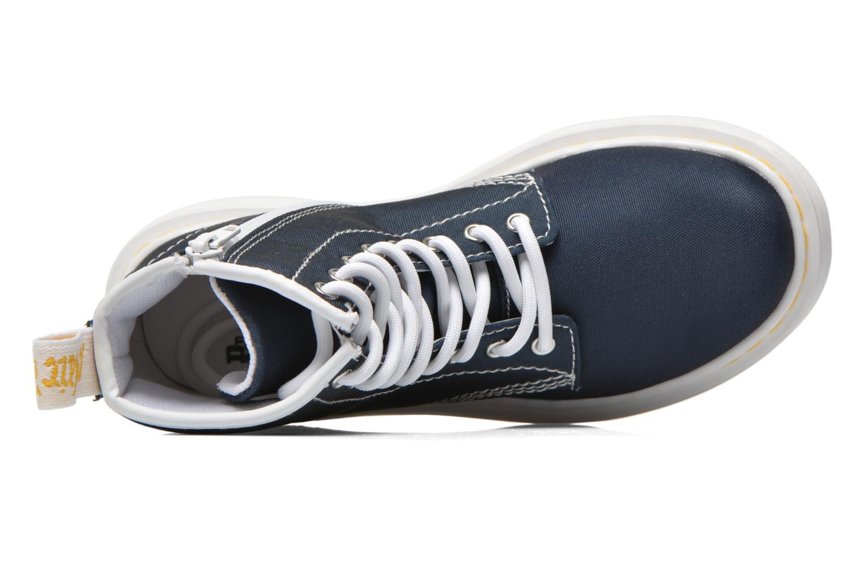 Bottines et boots Dr. Martens Juniors Delaney Lace Boot Canvas Bleu vue gauche