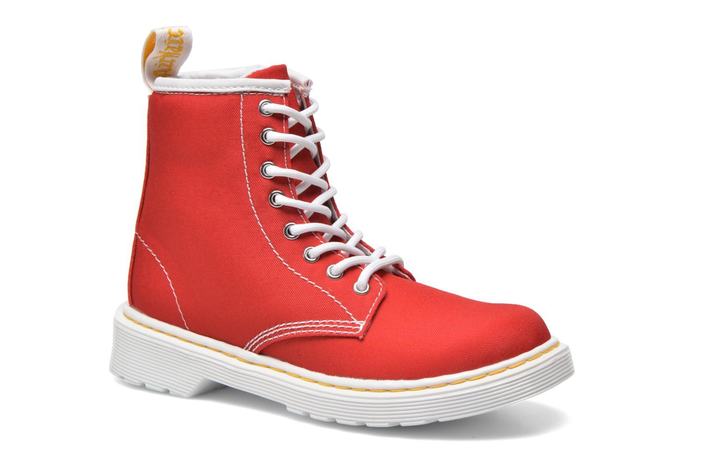 Bottines et boots Dr. Martens Juniors Delaney Lace Boot Canvas Rouge vue détail/paire