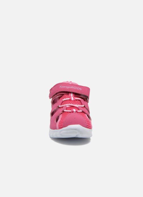Baskets Kangaroos Rock lite Rose vue portées chaussures