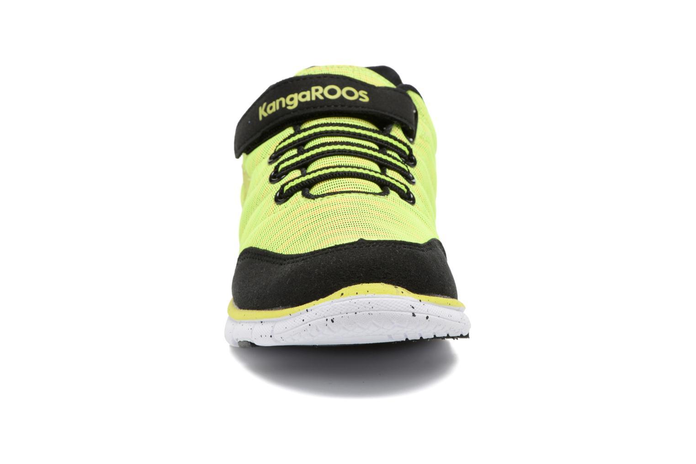 Baskets Kangaroos Nuri-Zebra Jaune vue portées chaussures