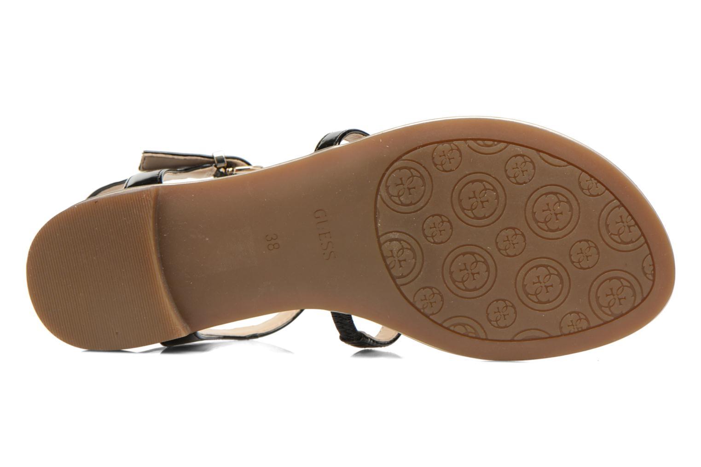 Sandales et nu-pieds Guess Roxxie Noir vue haut