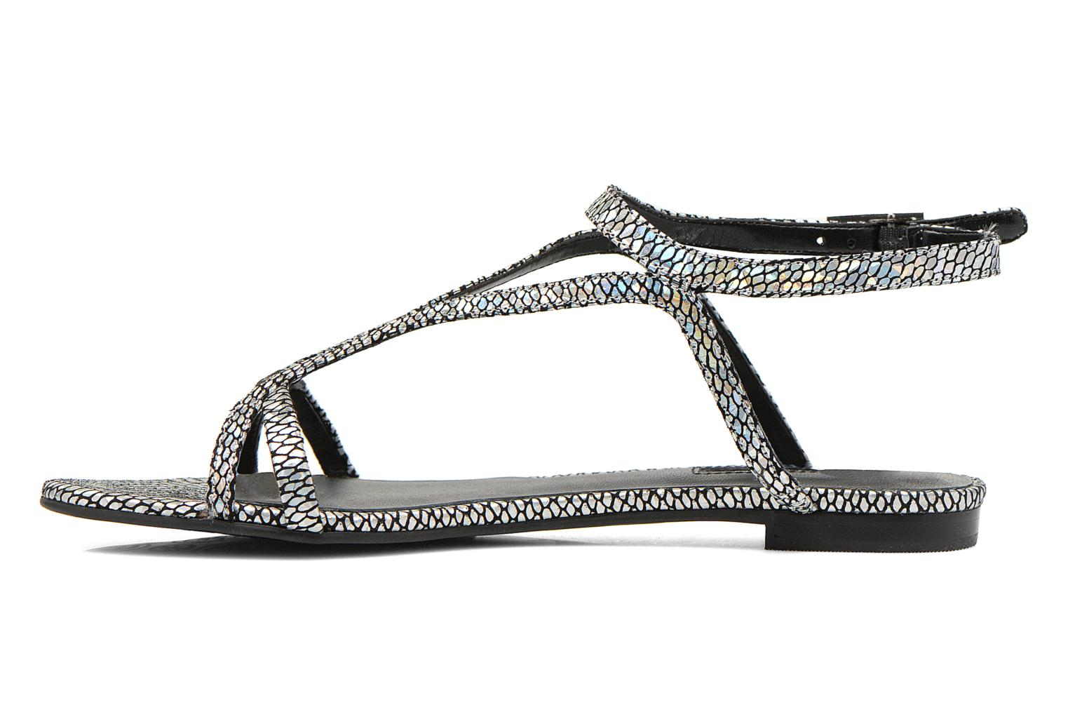 Sandals Guess Jalen Silver front view