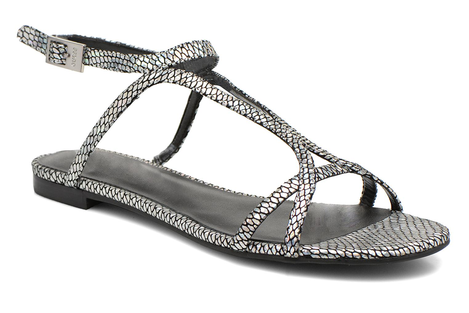 Sandals Guess Jalen Silver detailed view/ Pair view