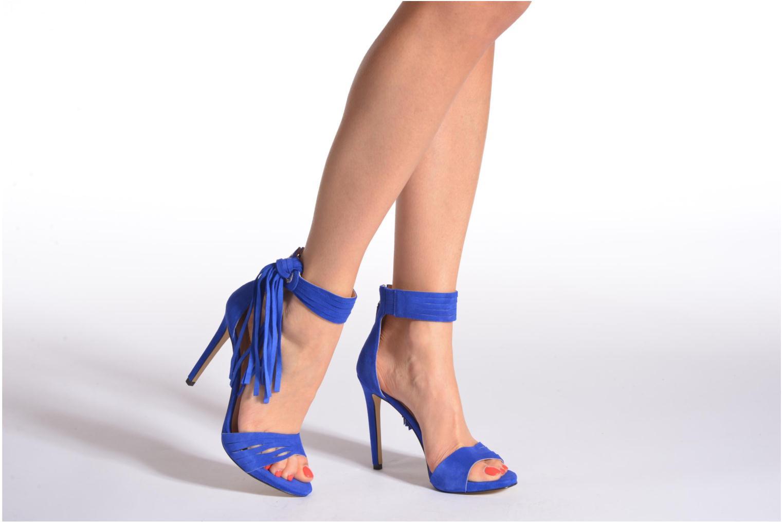 Sandales et nu-pieds Guess Aida Bleu vue bas / vue portée sac