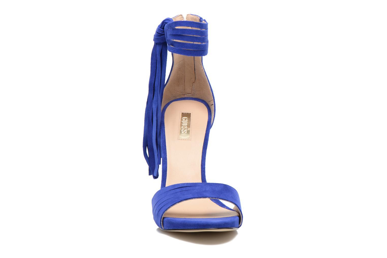 Sandales et nu-pieds Guess Aida Bleu vue portées chaussures