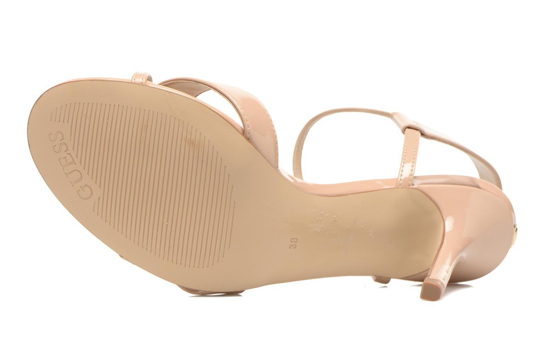 Sandales et nu-pieds Guess Deetra Beige vue haut