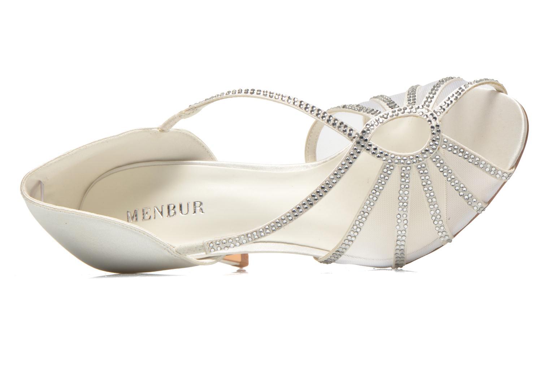 Sandales et nu-pieds Menbur Maribel Blanc vue gauche