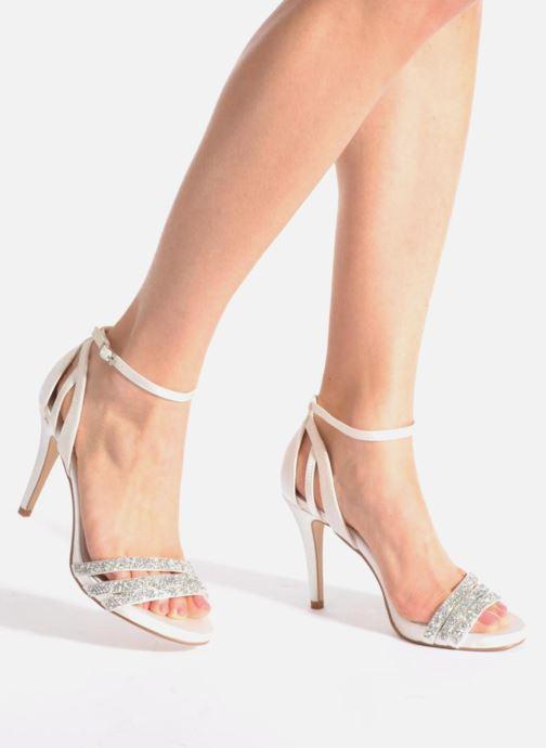 Sandales et nu-pieds Menbur Angustina Blanc vue bas / vue portée sac