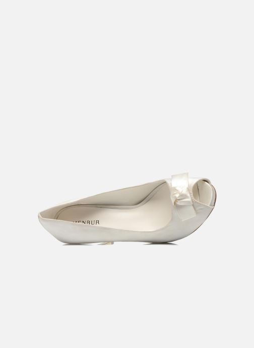 High heels Menbur Luz White view from the left