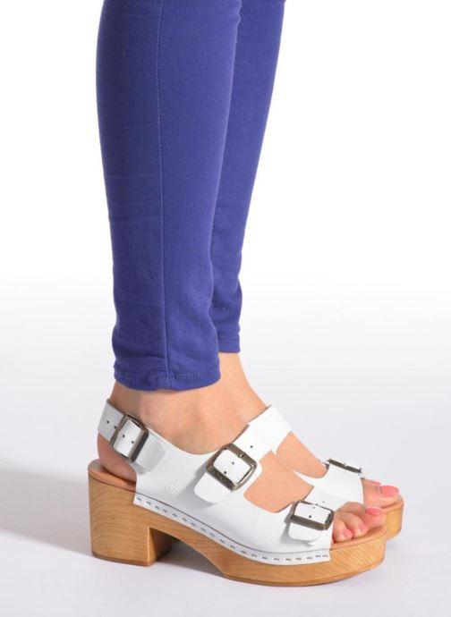 Sandales et nu-pieds Sixty Seven Linaci Blanc vue bas / vue portée sac