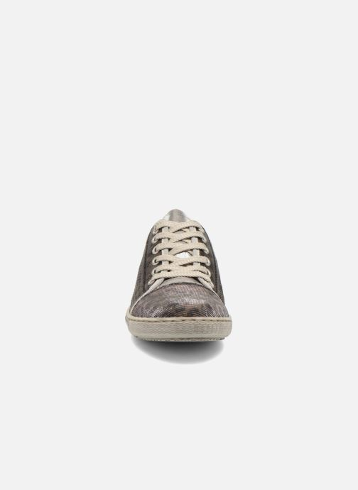Sneaker Rieker Speed 42417 silber schuhe getragen